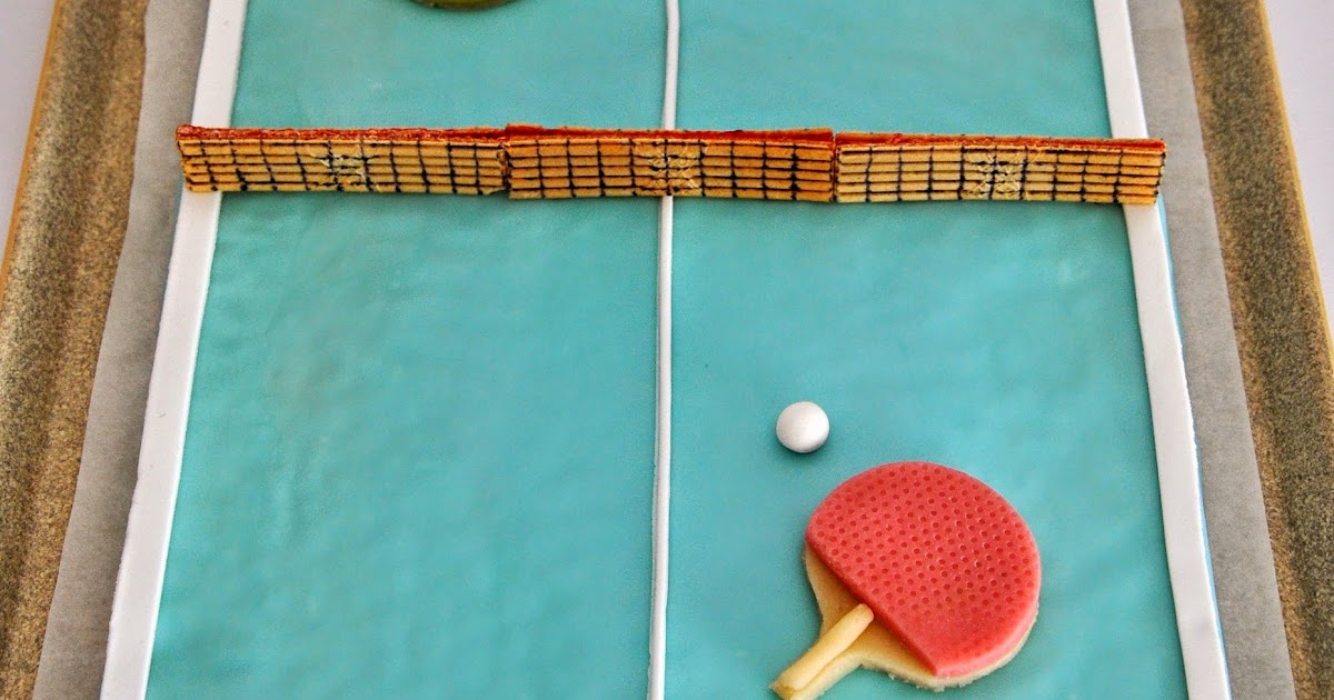 sucrissime le g teau table de ping pong. Black Bedroom Furniture Sets. Home Design Ideas