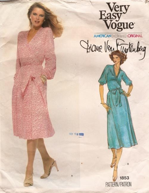 Vintage Vogue 1853: DVF wrap dress   clever tinker