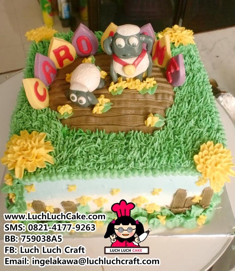 jual Kue Tart Shaun The Sheep Khusus Daerah Surabaya - Sidoarjo