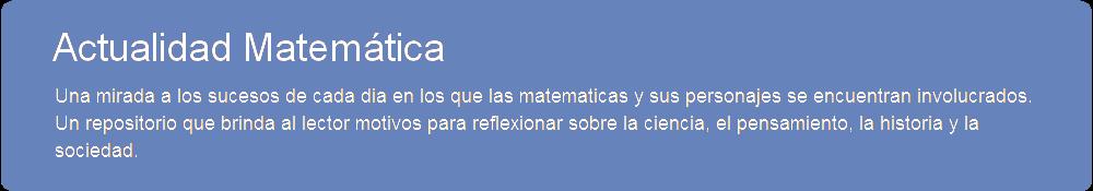 Actualidad Matemática