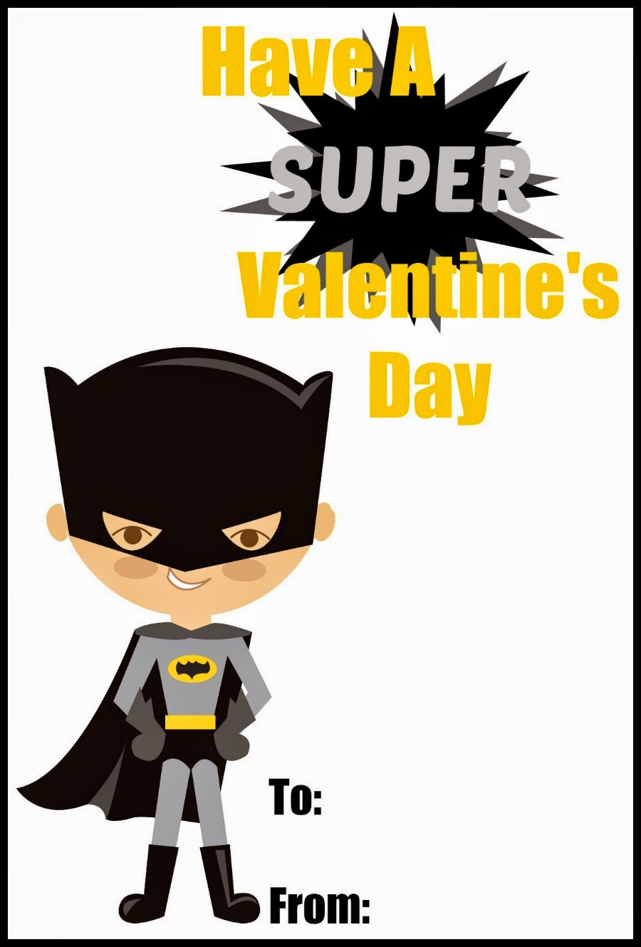 Creatively Dysfunctional – Batman Valentines Day Card