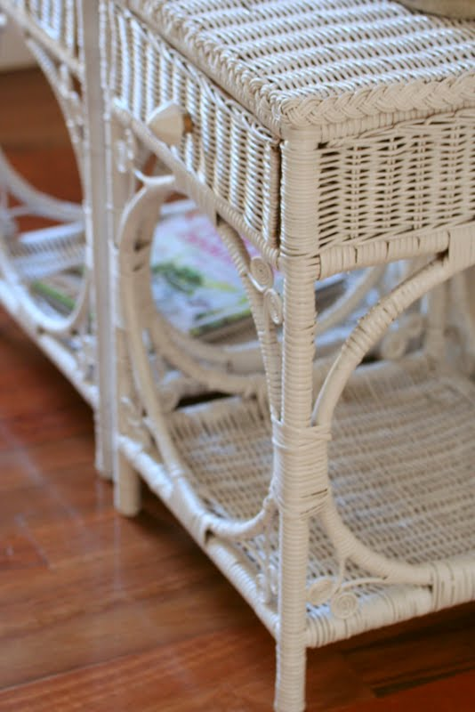 Lilyfield Life Painted White Wicker Bedside Tables
