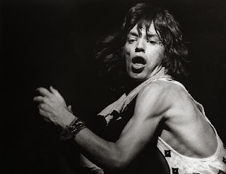 Mick Jagger 1972, photo by Bob Gruen