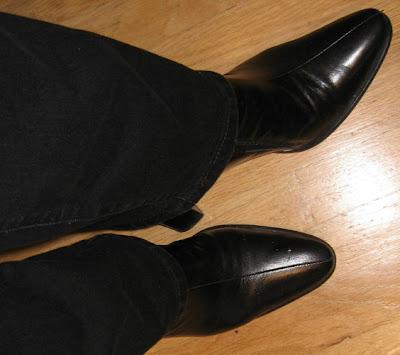 Franco Sarto black booties