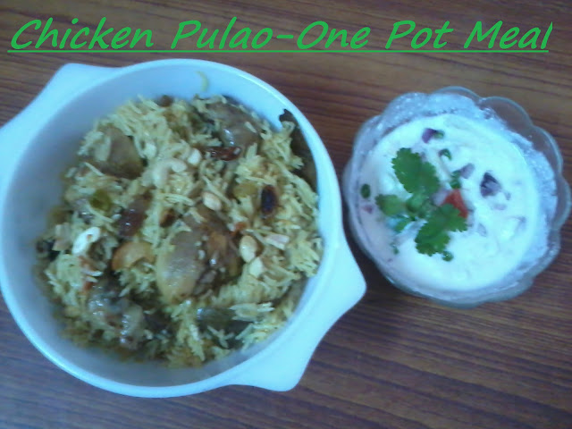 Pressure Cooked Chicken Pulao - One Pot Meal