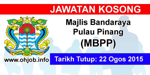 Jawatan Kerja Kosong Majlis Bandaraya Pulau Pinang (MBPP) logo www.ohjob.info ogos 2015