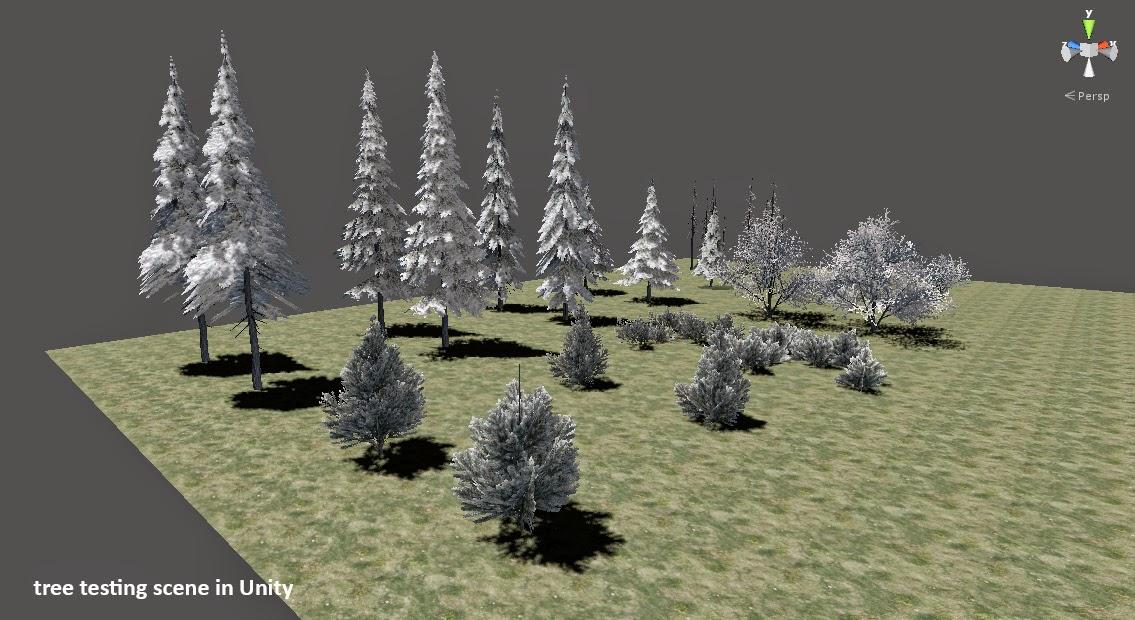 Tree testing scene in Unity 3D