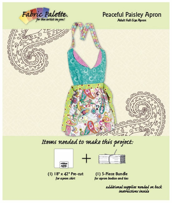 peaceful paisley apron kit Sewing Patterns For Aprons