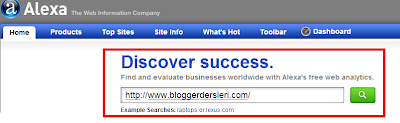 Alexa Blogger Kaydetmek