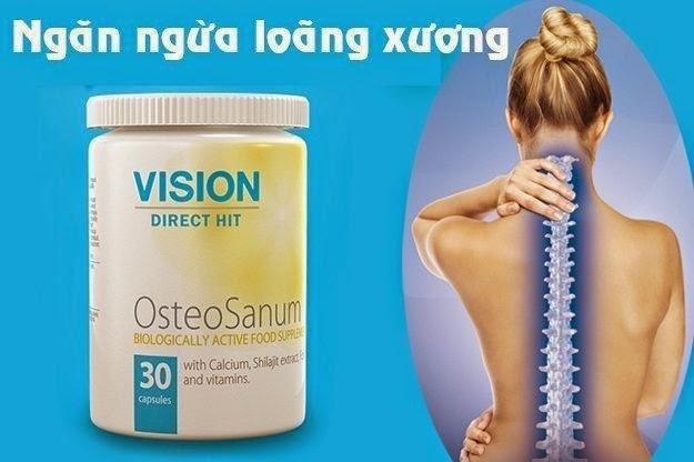 Tác dụng Thực phẩm chức năng OsteoSanum Vision xương răng chắc khỏe