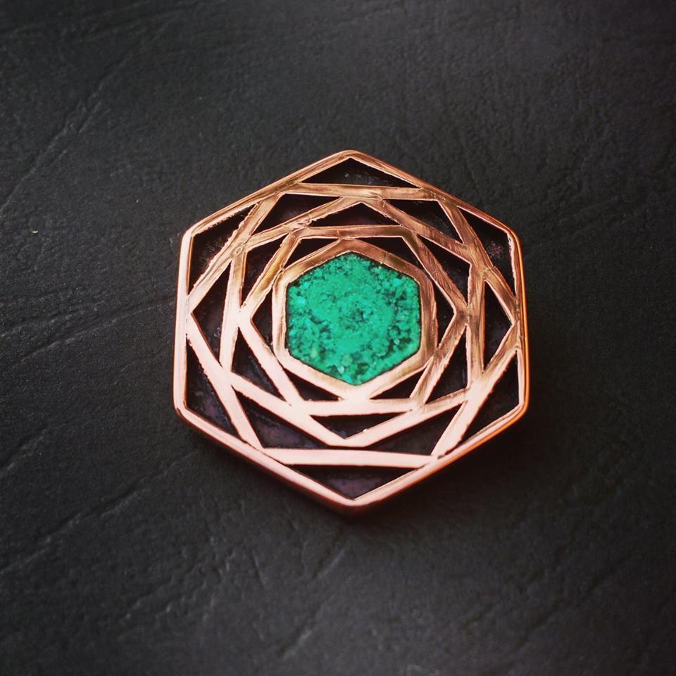 Colgante cobre, Crisoprasa (319)