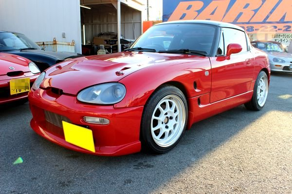 Suzuki Cappuccino, kei car, roadster, napęd na tył, silnik 3-cylindrowy, doładowany, turbo, RWD, JDM, na rynek japoński, kultowy