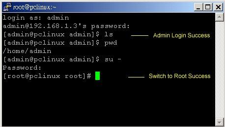 Linux server admin login