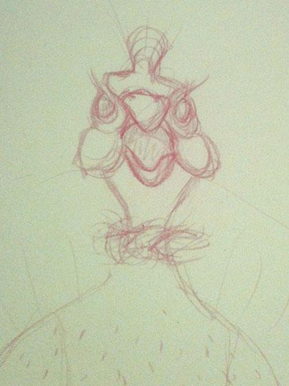 Sketch Galinha D angola