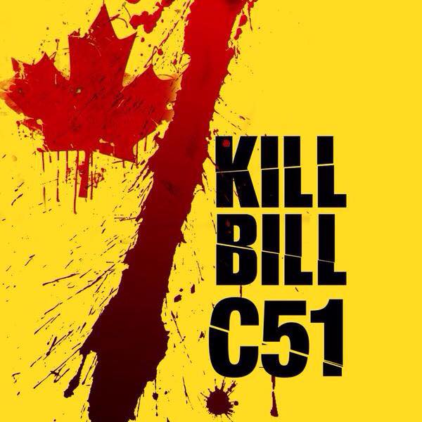 Say NO! to Bill C-51. Terror preparation is one thing, loss of privacy no!