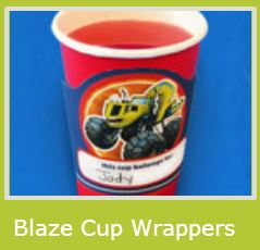Blaze: Free Printable Cup Wrappers.