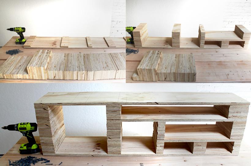 Häufig Initiales GG  : DIY : fabriquer un meuble TV GU67