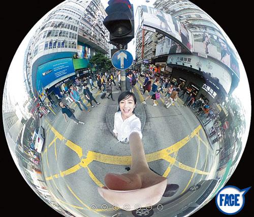 シータが面白い!撮れる画像が「360度パノラマ」という点だ。表裏両面のレンズから撮れた画像を合成することで、360度すべての風景を一枚の画像になる。