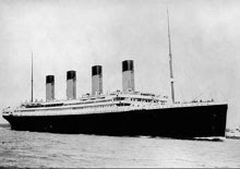 RMS Titanic at sea