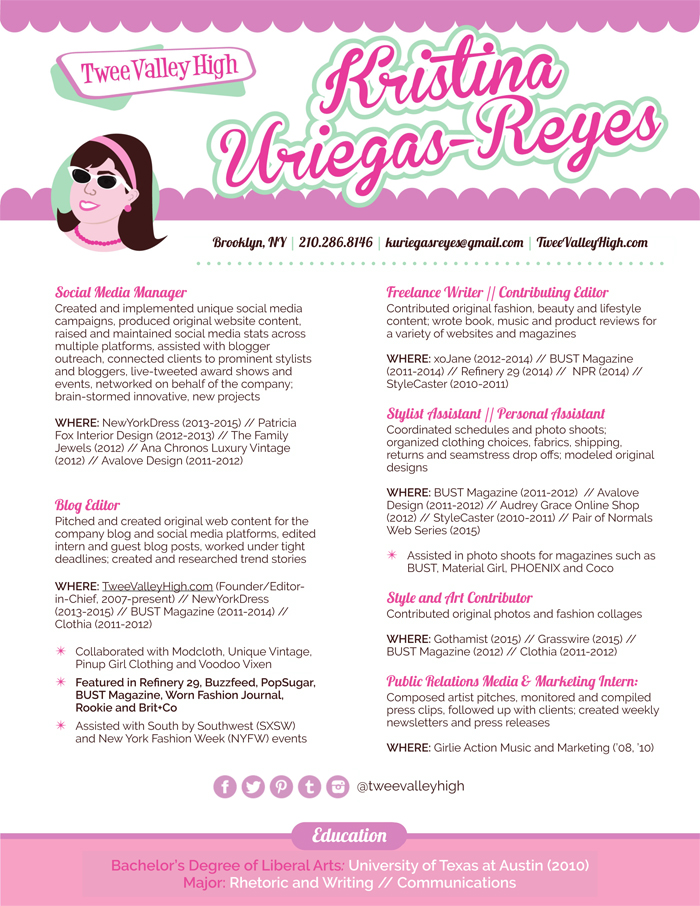 Twee Valley High-Kristina Uriegas-Reyes Resume