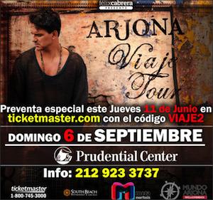 RICARDO ARJONA EN EL PRUDENTIAL CENTER