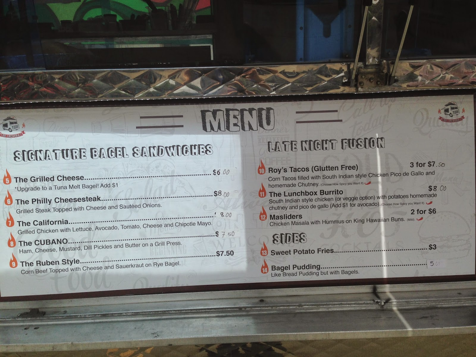 The Lunchbox Food Truck Houston Texas Menu