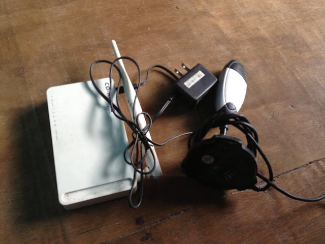 Old Router, Charger and a Cam