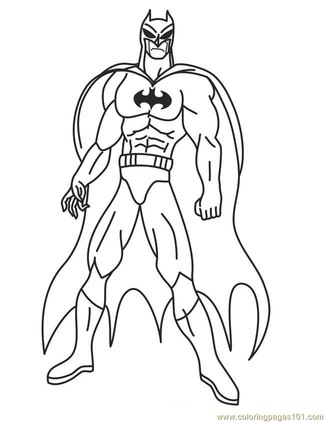 Superhero Printable Coloring Pages