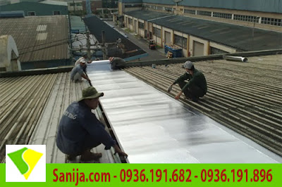 Thi công chống nóng mái tôn với xốp PE OPP