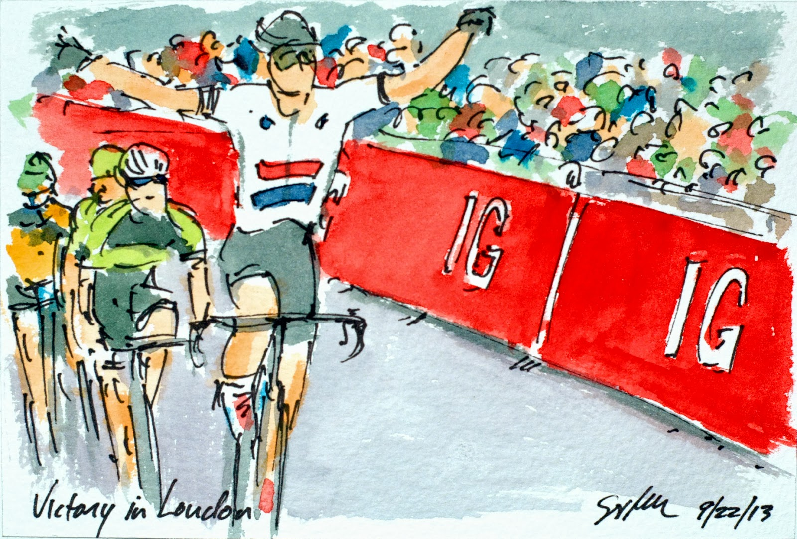 The Art of Cycling: Tour of Britain Final Stage: Victory ...