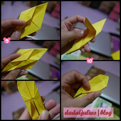 tutorial origami burung jenjang