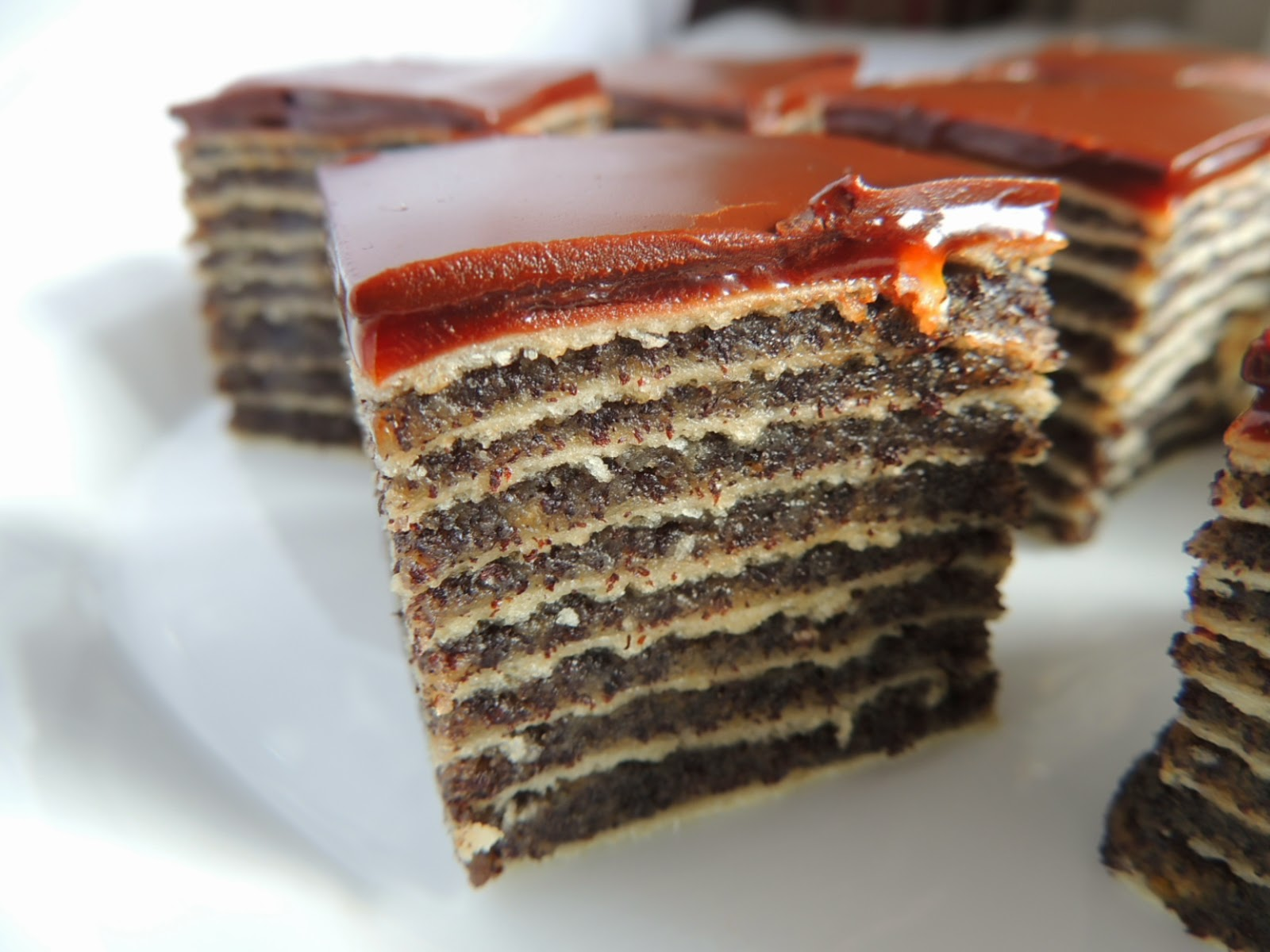 Unbaked poppy seeds cake with readymade crusts and biscuits