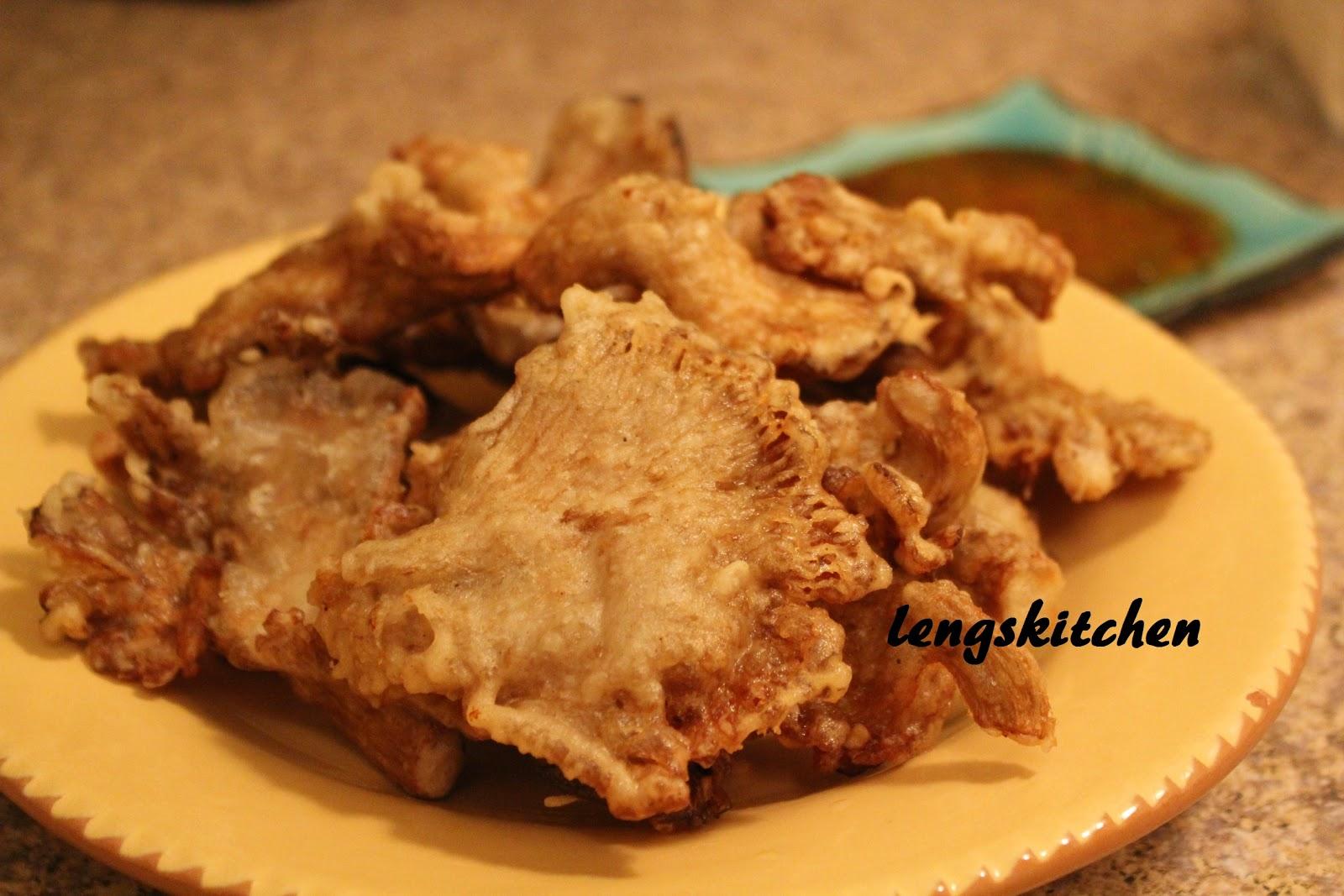 Kitchen Chaos: Deep Fried Oyster Mushroom 炸鲍鱼菇