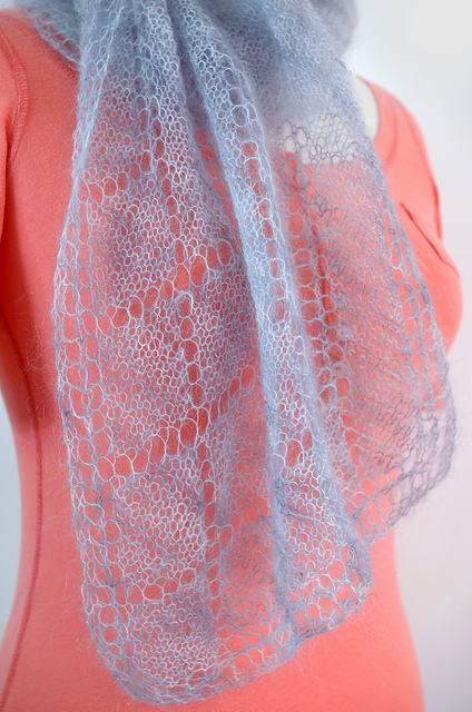 Mohair Lace Scarf pattern on Ravelry
