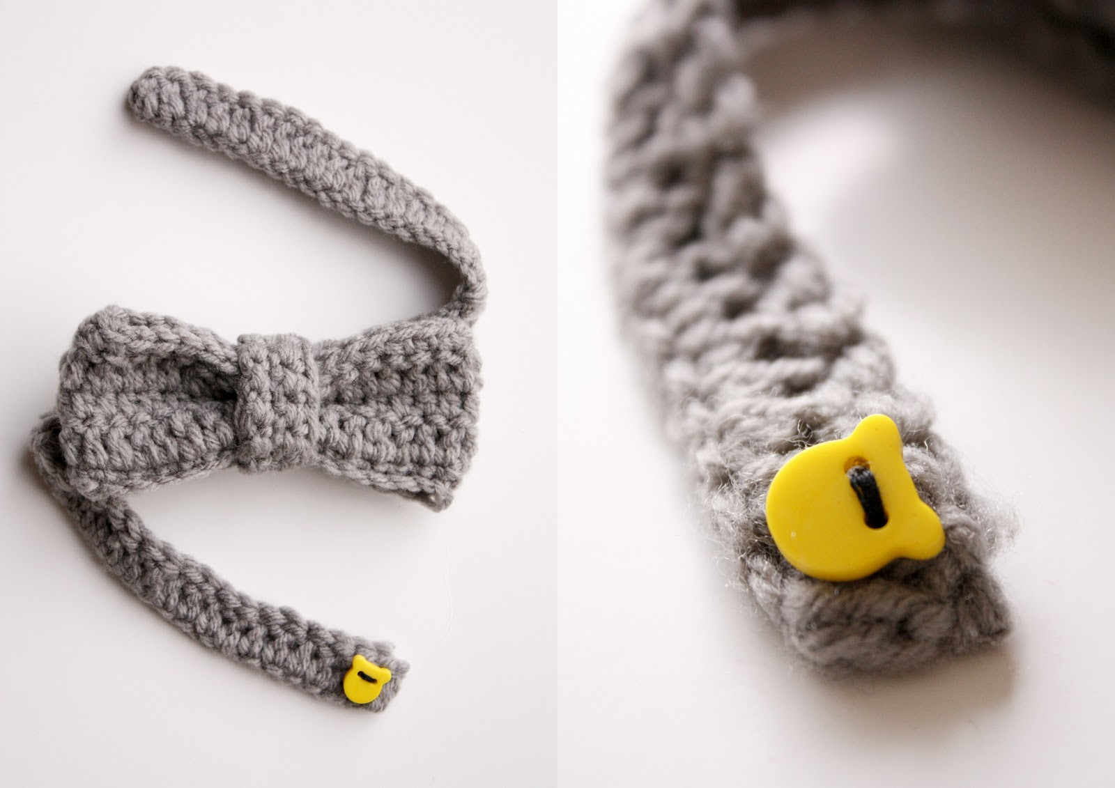 Crochet Pattern For Baby Nike : Textured Bow Tie