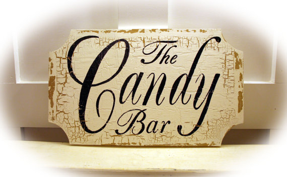 Candy Bar Sign By Merry Me Signs Via Etsy