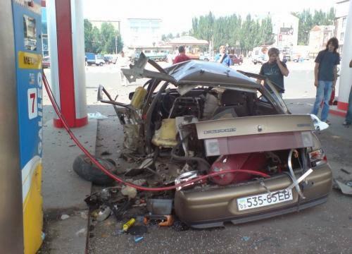 Взрыв машины от неправильно установленного оборудования ГБО
