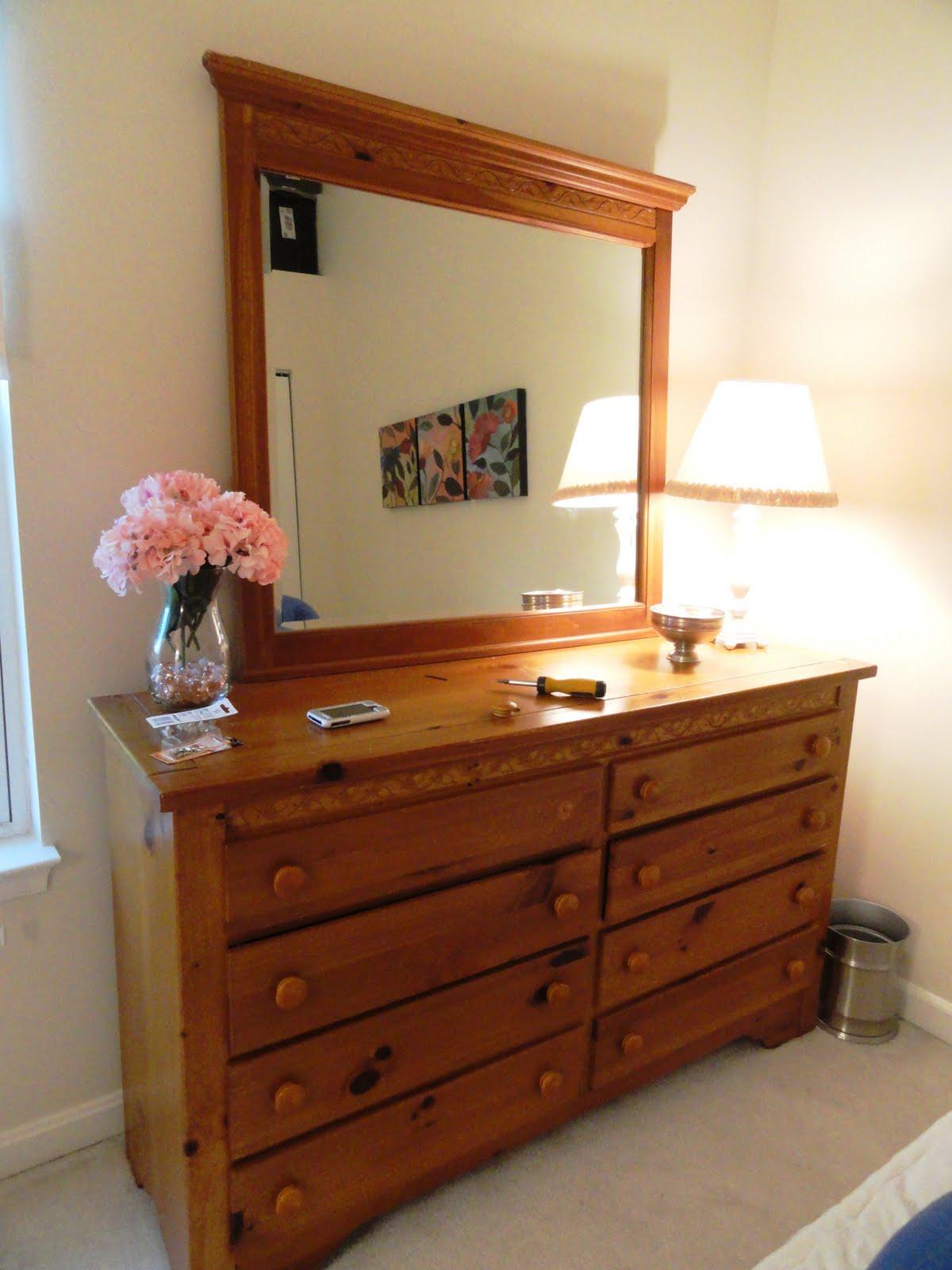 rachel 39 s nest pine dresser armoire makeover. Black Bedroom Furniture Sets. Home Design Ideas