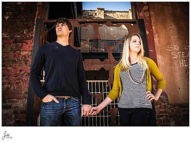 Downtown Lynchburg Fall Liberty University Couples Session