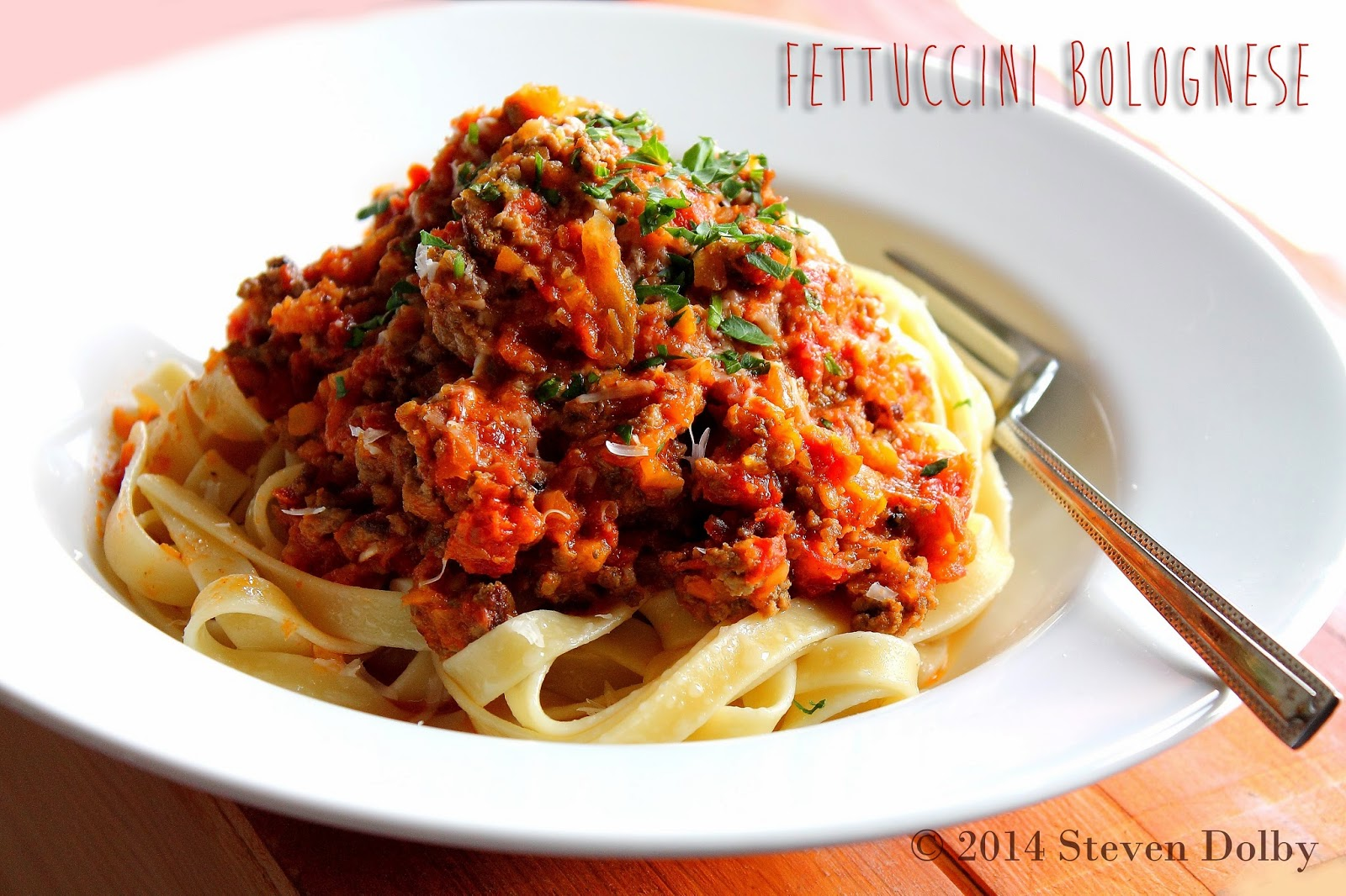Fettuccini Bolognese for Aaron by Steven Dolby