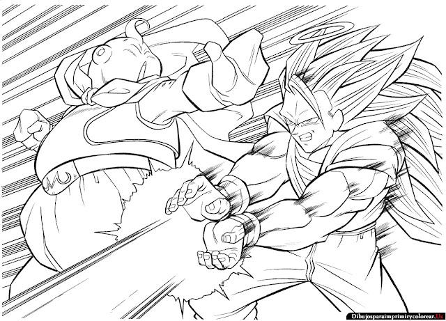 Dibujos de Dragon Ball z para Imprimir y Colorear