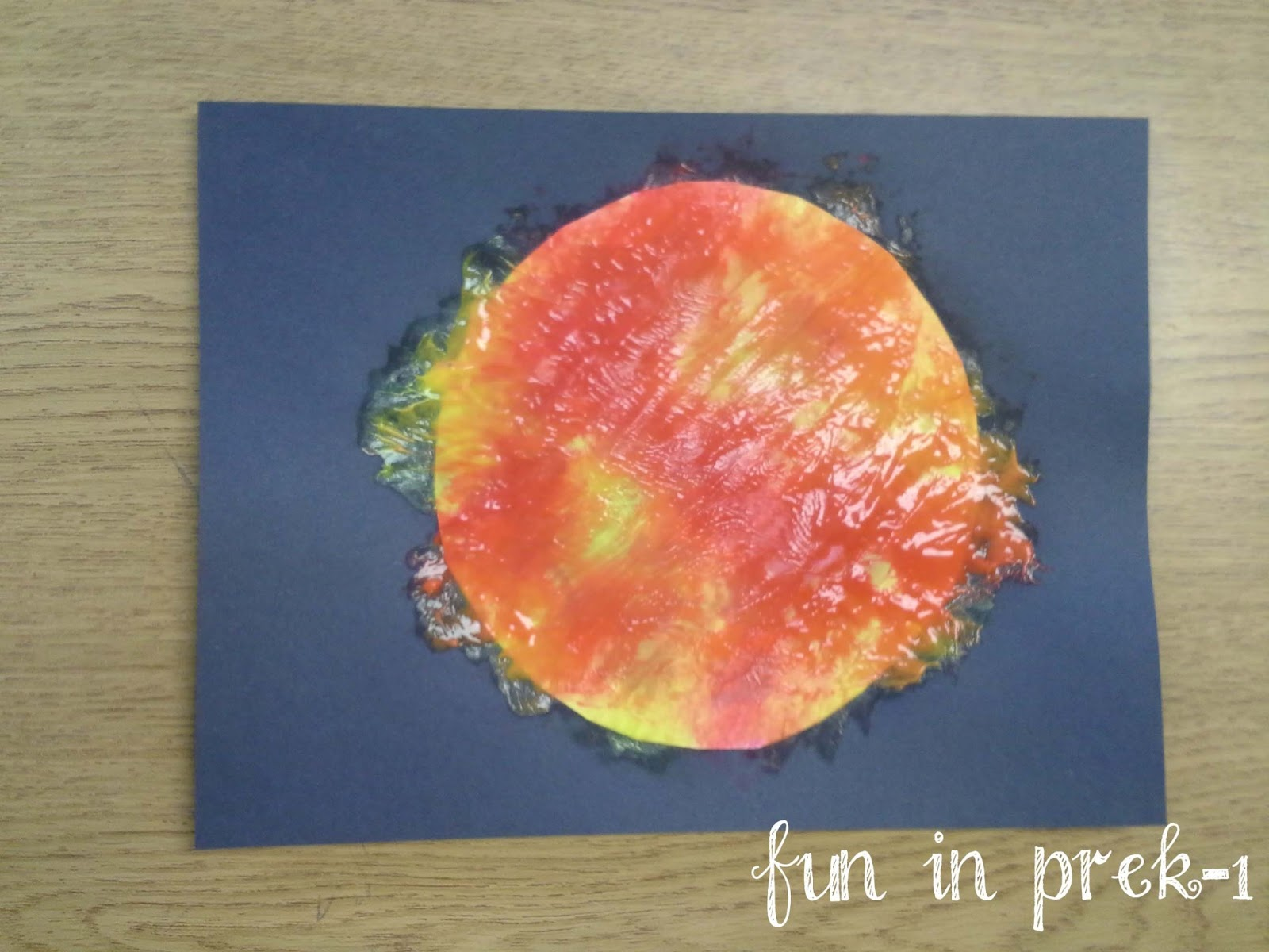 Fun in prek 1 there 39 s no place like space outer space for Outer painting design