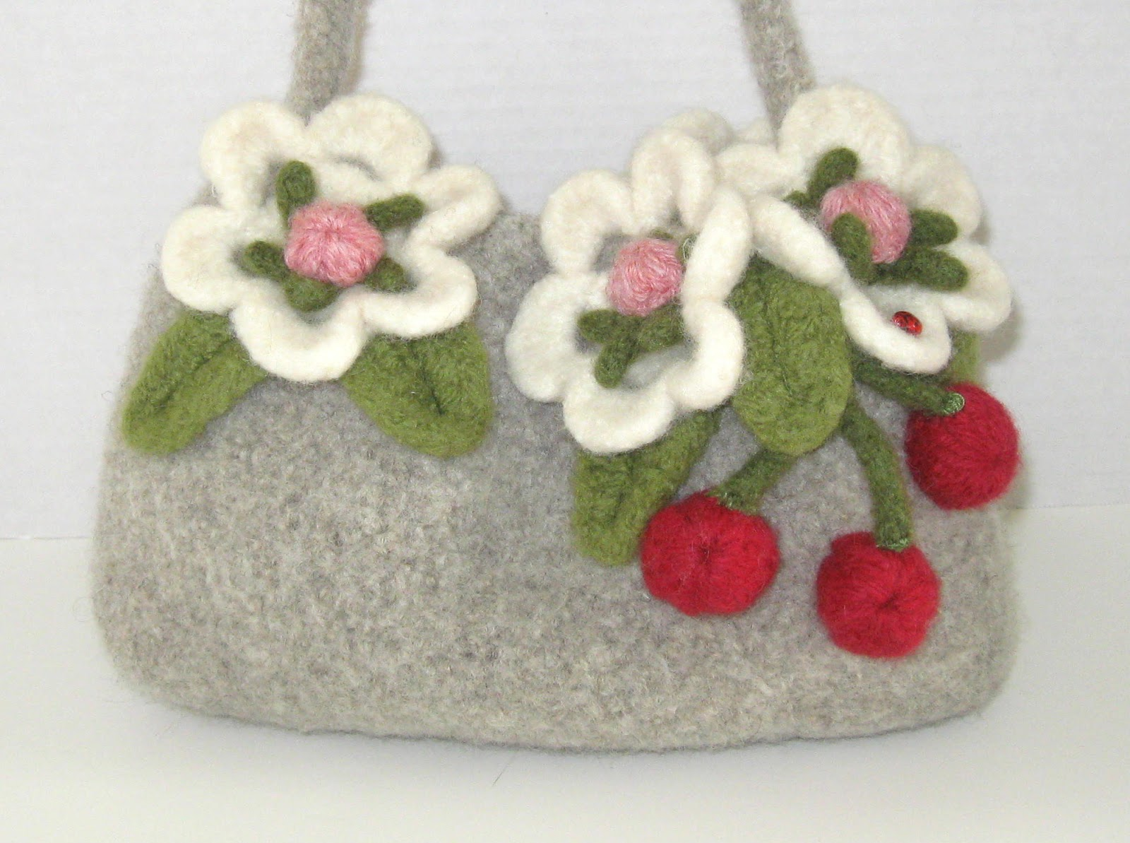 Felted wool crocheted purses Yen4Yarn