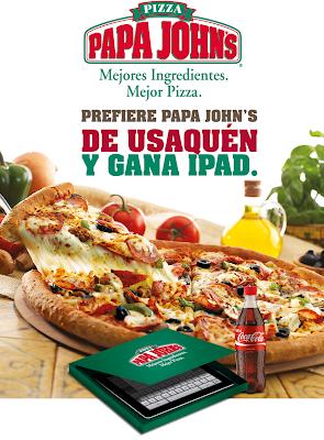 Promoción Papa Johns: Gana iPad