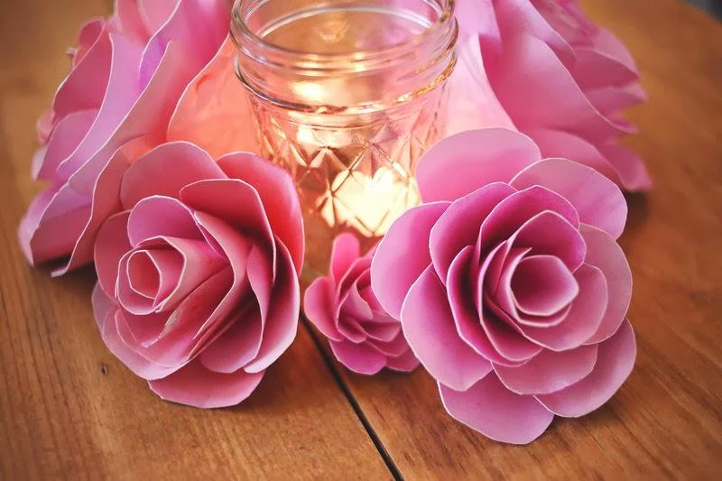 tutorial membuat bunga kertas untuk dekorasi 2