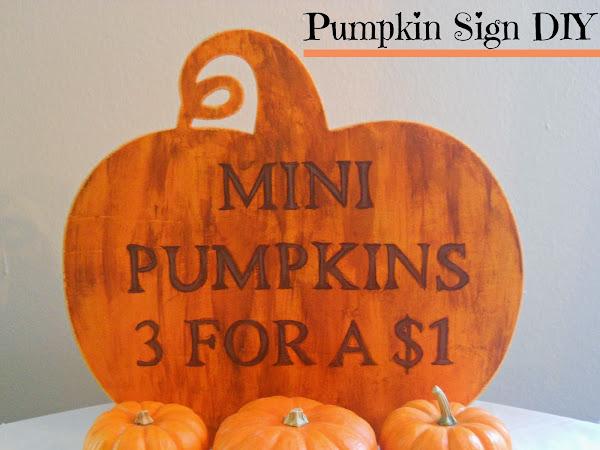 Pumpkin Sign DIY
