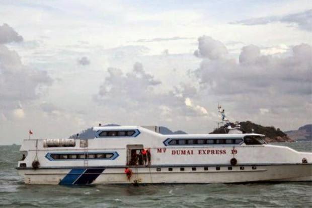 Lebih 100 Penumpang Cemas Feri Terkandas di Perairan Dumai