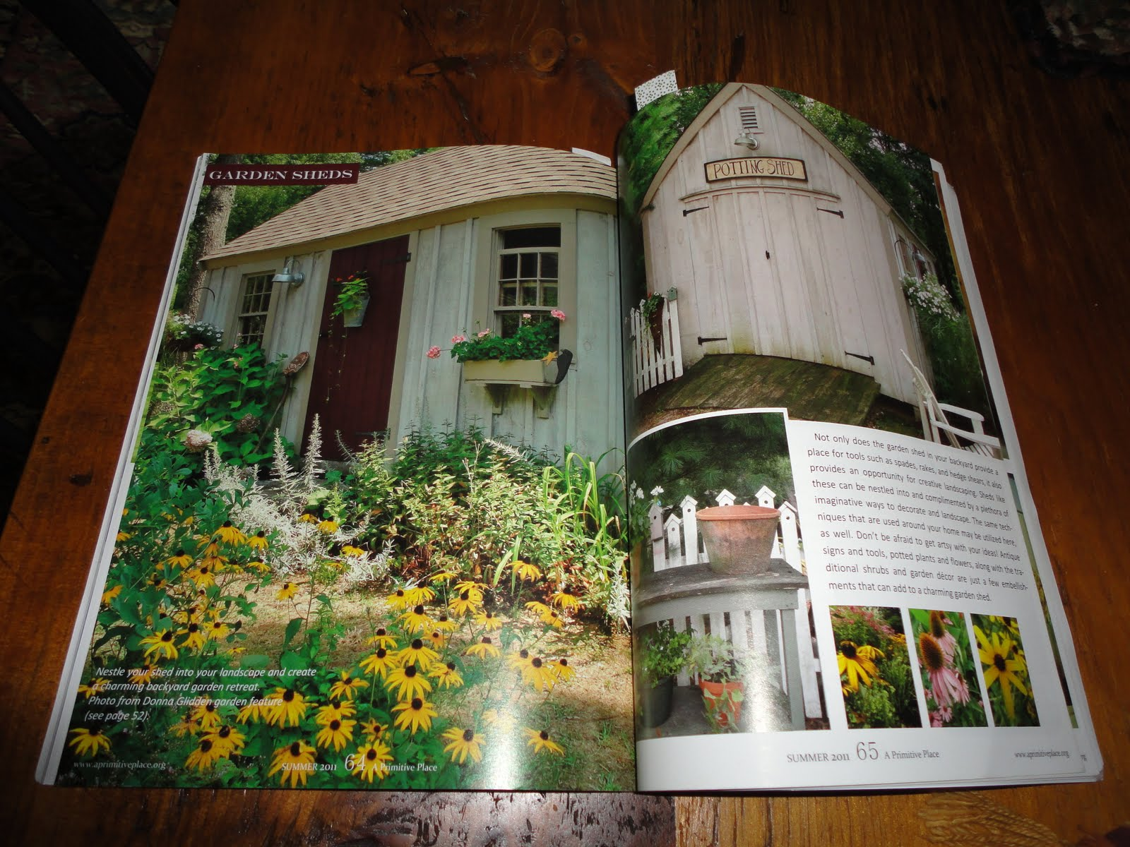 Primitive country gardens - I Received My Issue Last Week And I Am So Happy With The Pictures And Article Along The Garden Path Then My Potting Shed And Porch Were Featured Too