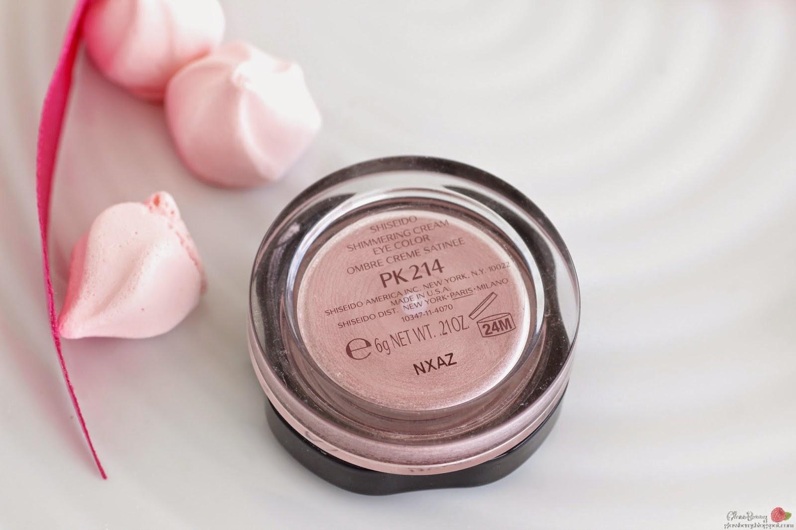 Shiseido - Shimmering Cream Eye Color pk214 review swatches צללית קרם שיסיידו