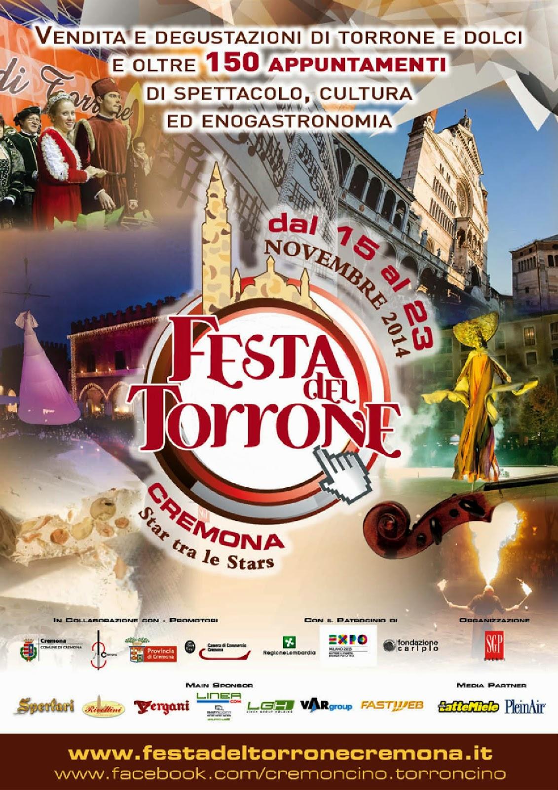Festa del Torrone dal 15 al 23 Novembre Cremona 2014